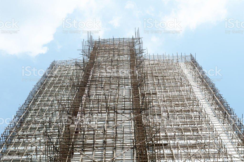 Tausende Von Bambus Ist Das Gerustprojekt In Burogebaude Baustelle