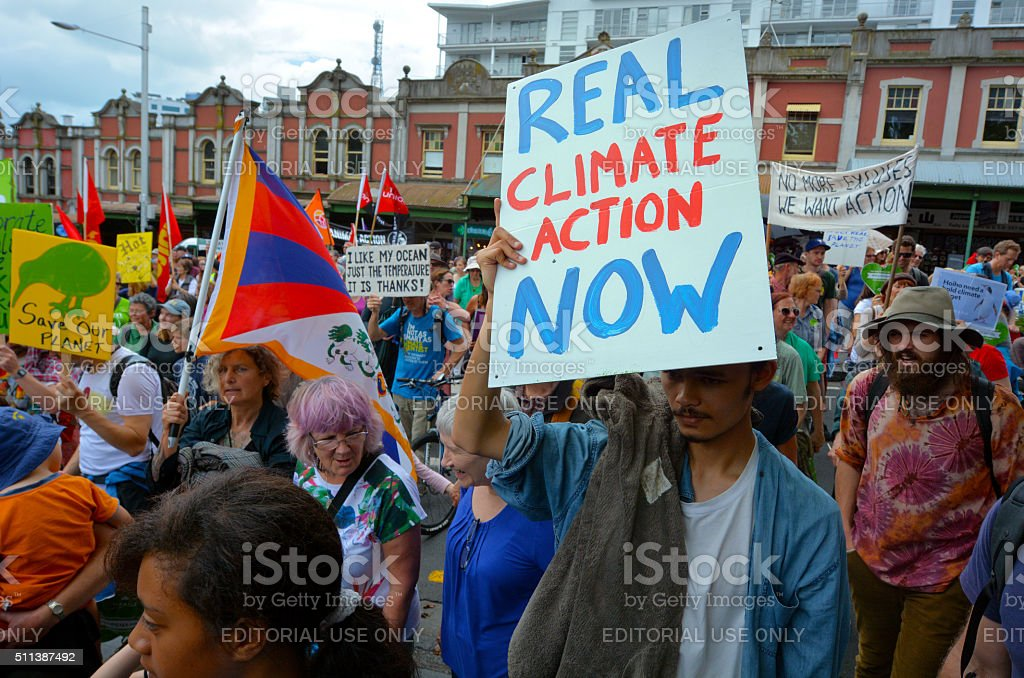 Thousands rally for action on climate change stock photo