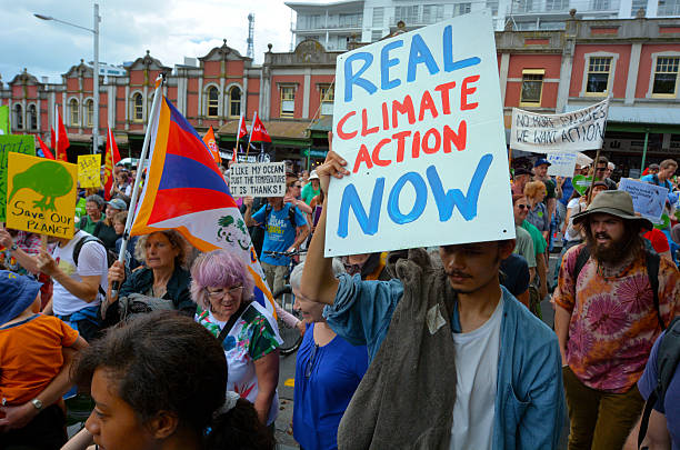 thousands rally for action on climate change - 氣候 個照片及圖片檔