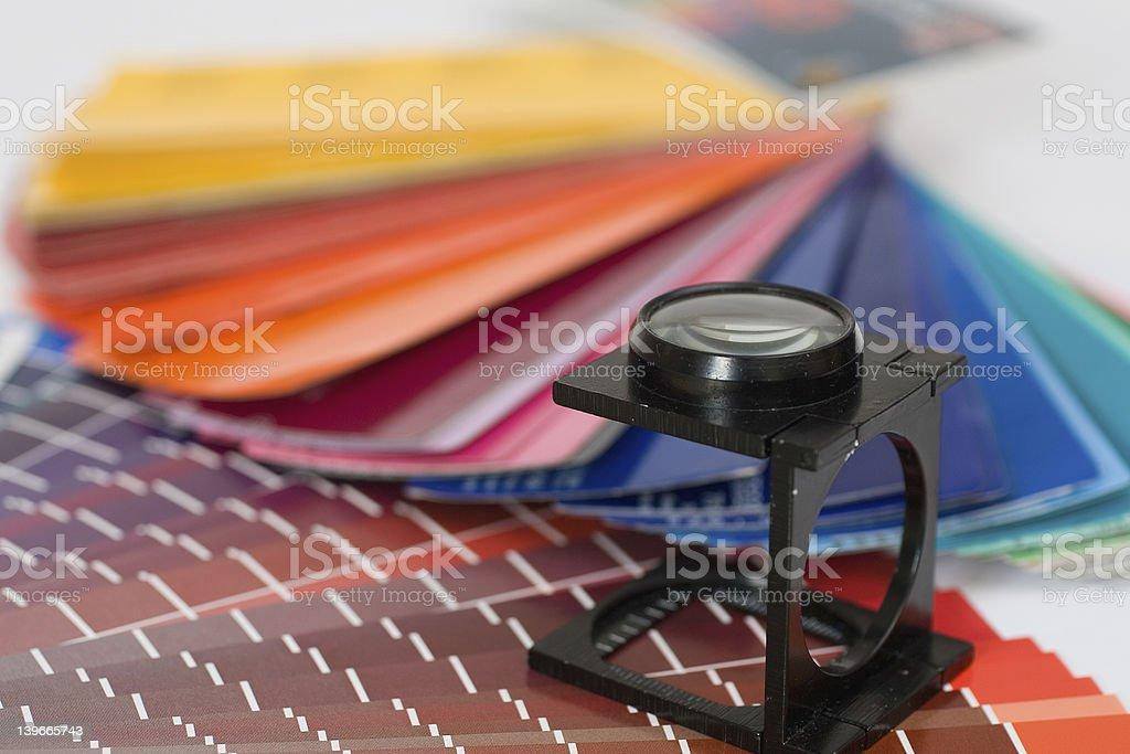 thread counter, linen tester stock photo