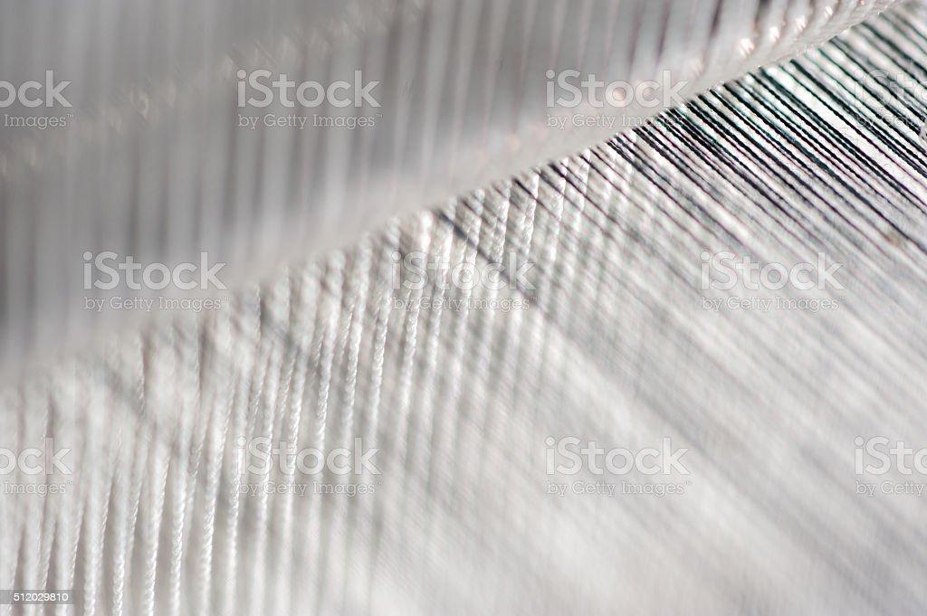 Thread from weaving machine. stock photo