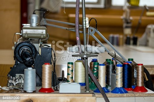 Thread On Sewing Machine Stock Photo & More Pictures of Barre