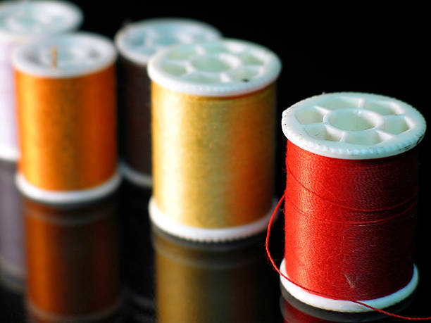 Thread Spools stock photo