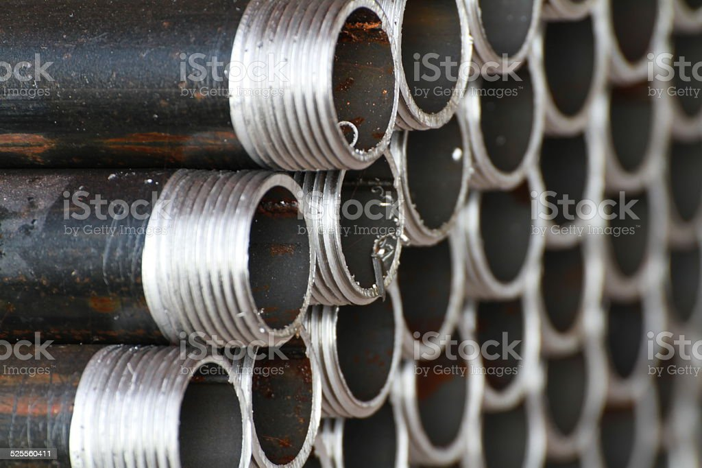Threaded Pipe stock photo