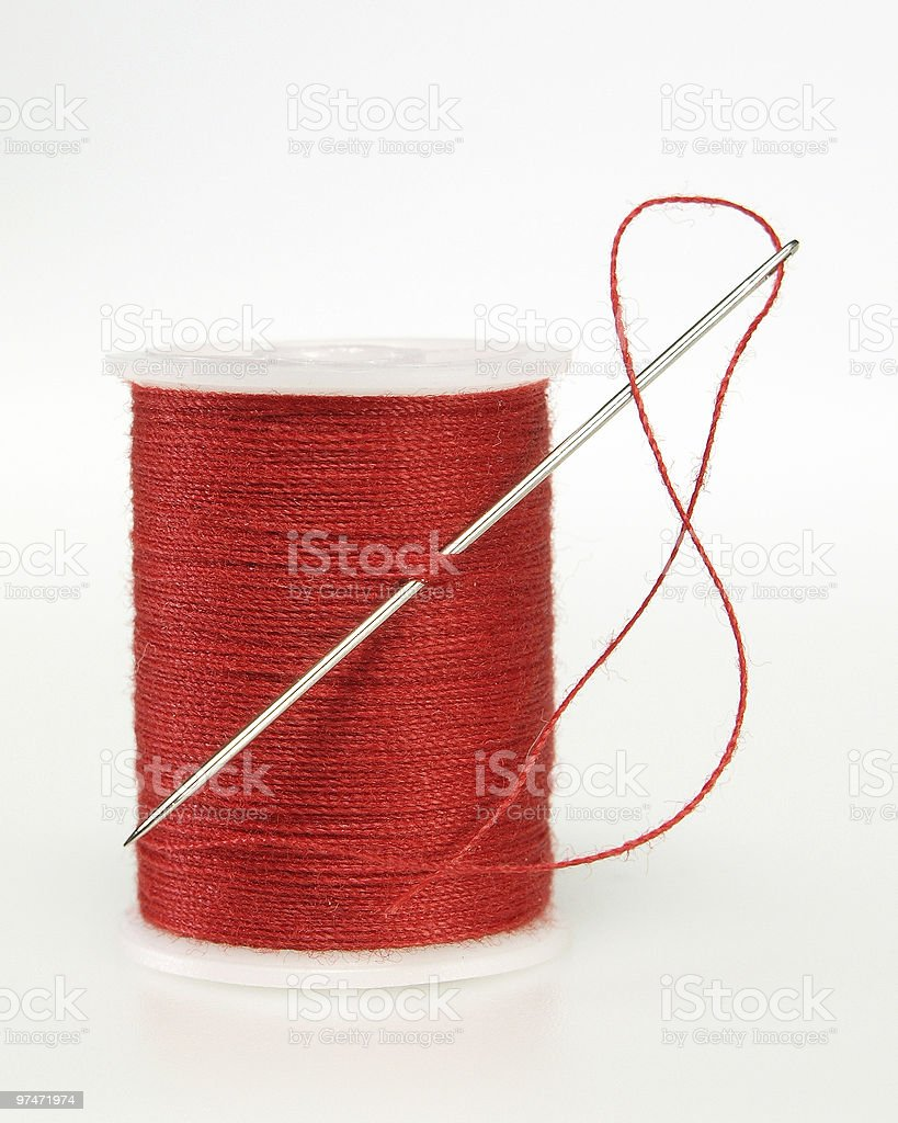 Threaded Red stock photo