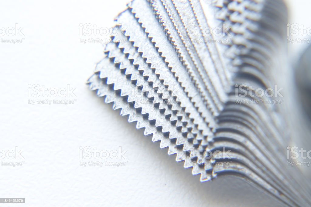 Threader. The device for measuring the thread pitch. Close-up stock photo