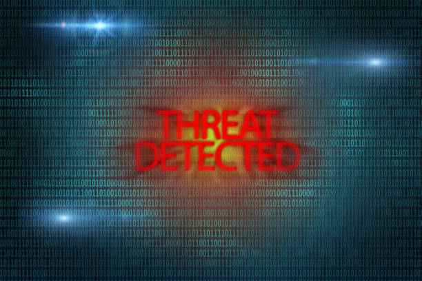 Threat detected sign. Virus attack. Computer spyware. Threat detected sign. Virus attack. Computer spyware. System error. Security risk. former yugoslavia stock pictures, royalty-free photos & images
