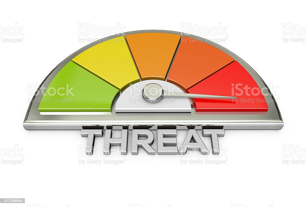 threat warning chart stock photo