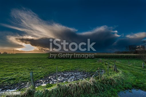 istock Threatening clouds in the western skies 1152978832