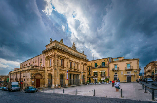 Threatening Clouds Over Noto stock photo
