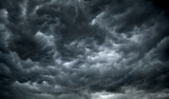 Dark, Ominous Clouds Promise Rain and poor Weather.