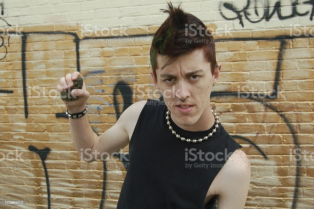 Threatening Punk stock photo