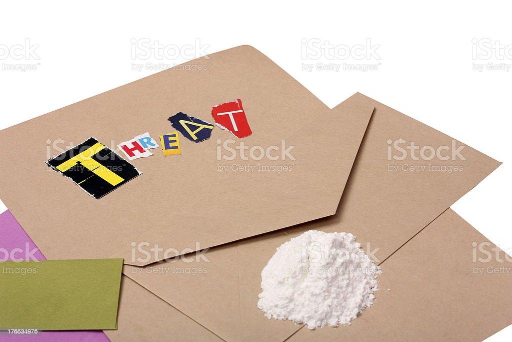 Threatening Ricin Letter stock photo