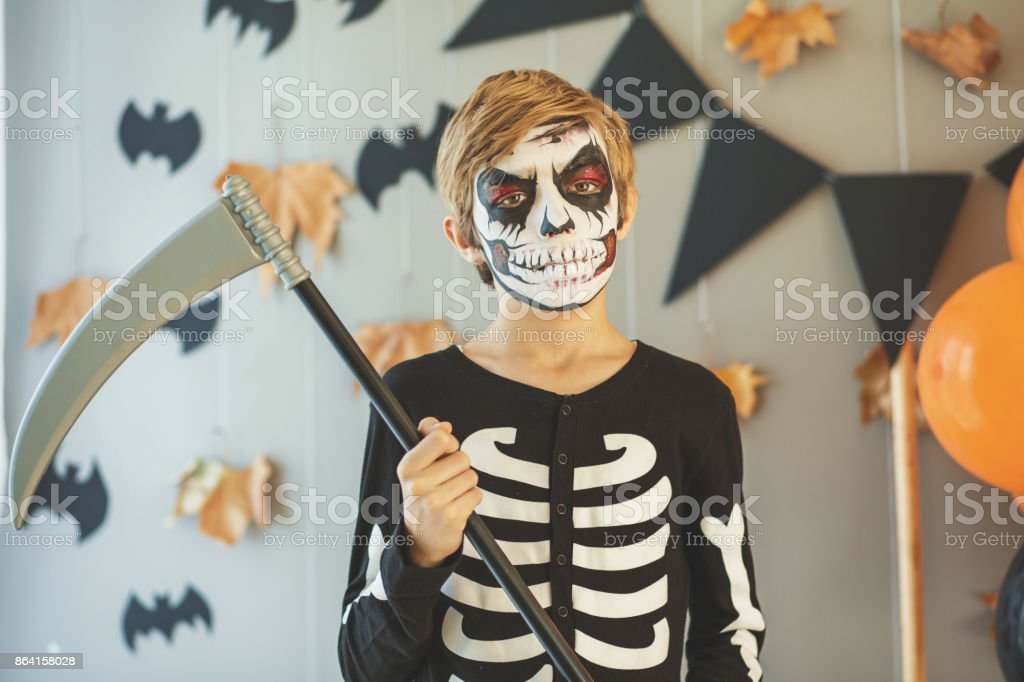 Threatening skeleton royalty-free stock photo