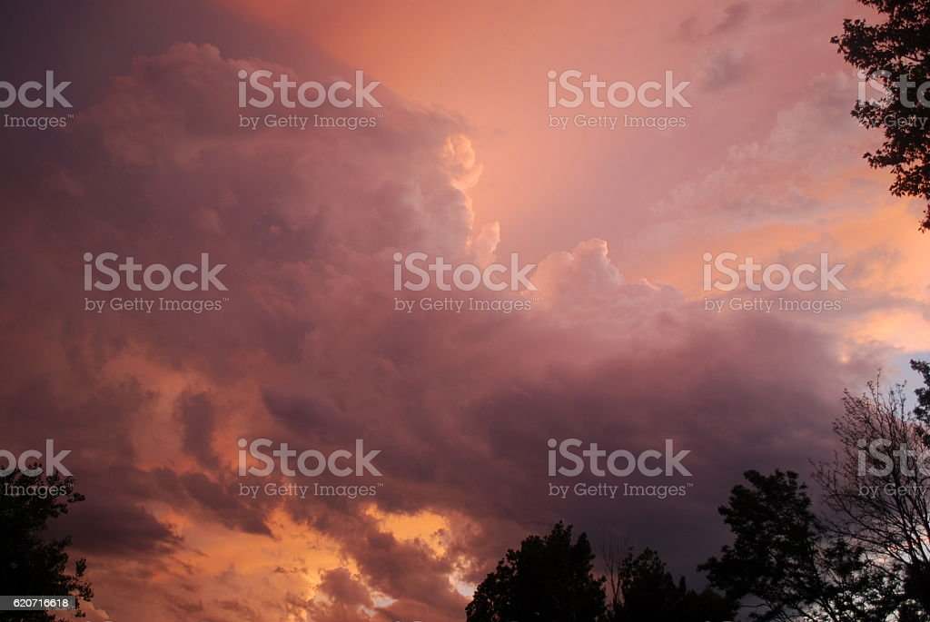 Threatening storm clouds stock photo