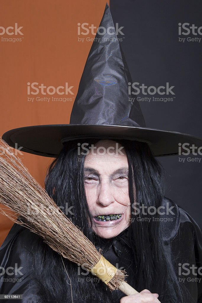 Threatening Witch stock photo