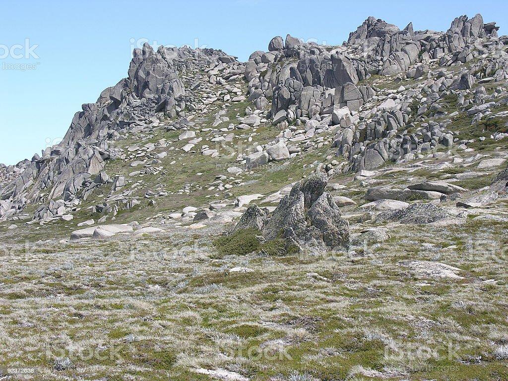 Thredbo cliffs in summer royalty-free stock photo