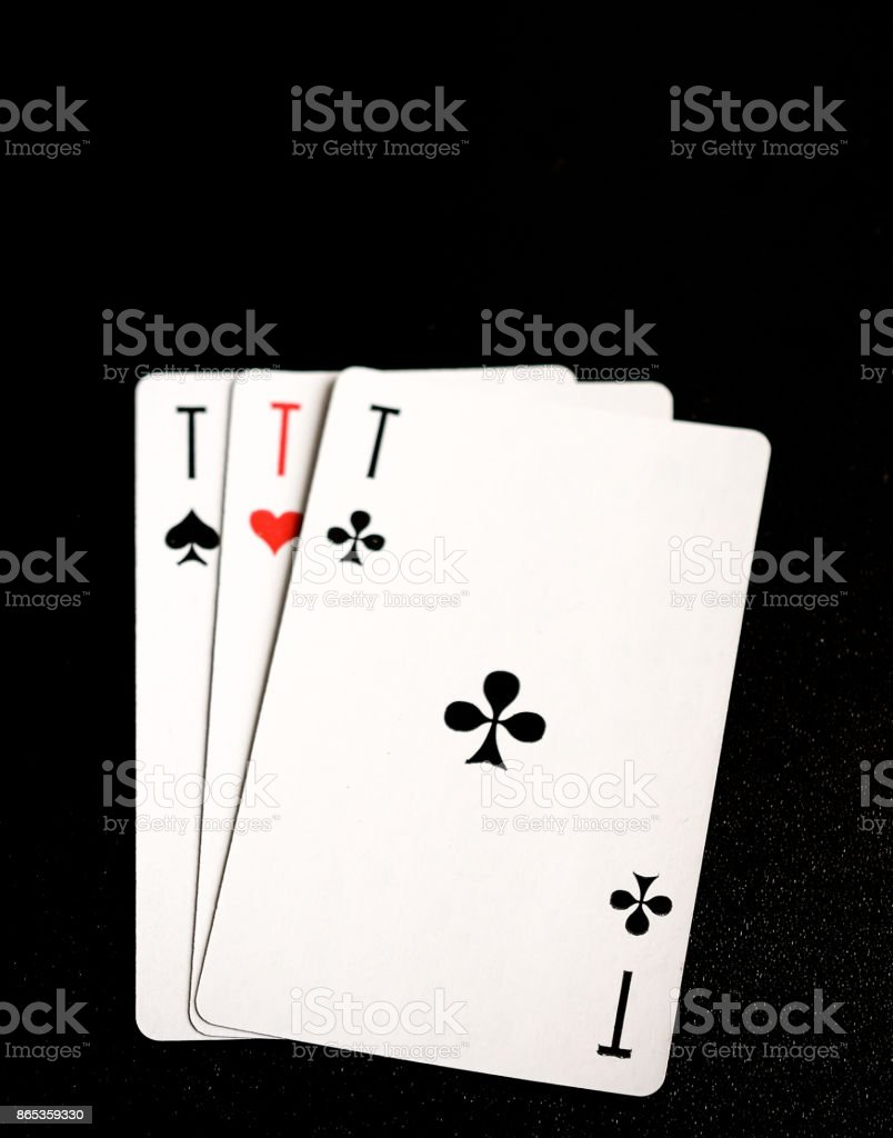 Three aces: ace of hearts, ace of spades, ace of clubs – zdjęcie