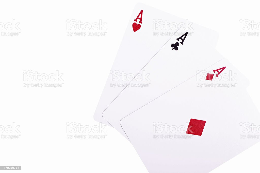 three aces royalty-free stock photo