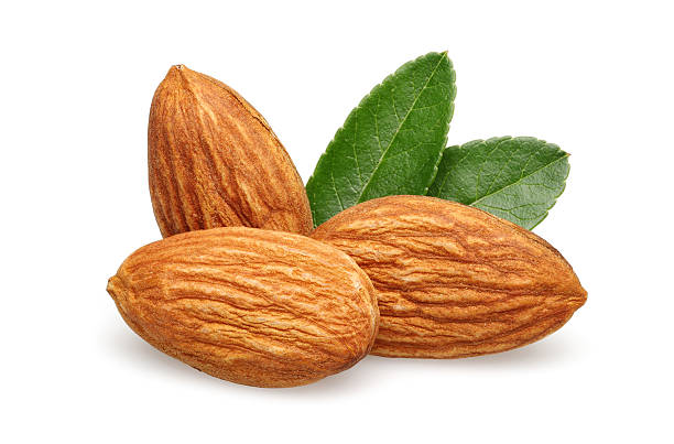 Three Almond stock photo