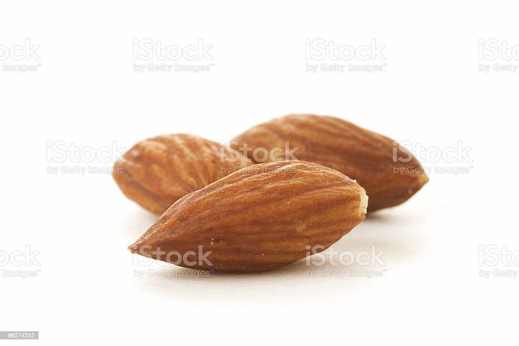 Three Almonds royalty-free stock photo