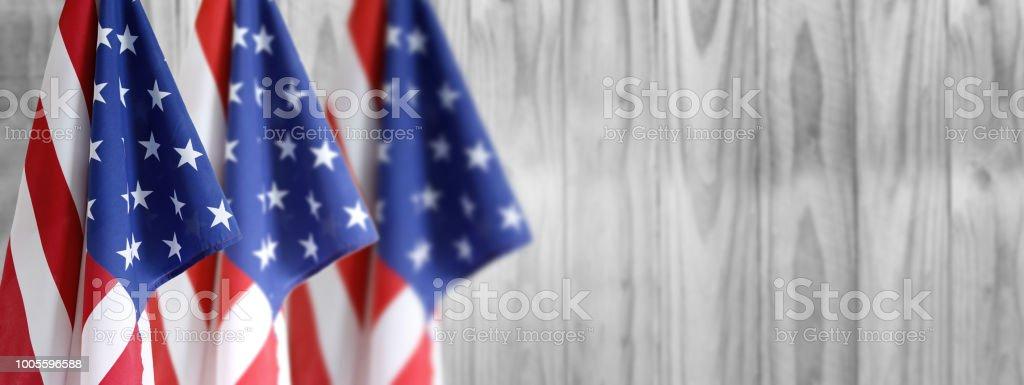 Drei American flags – Foto