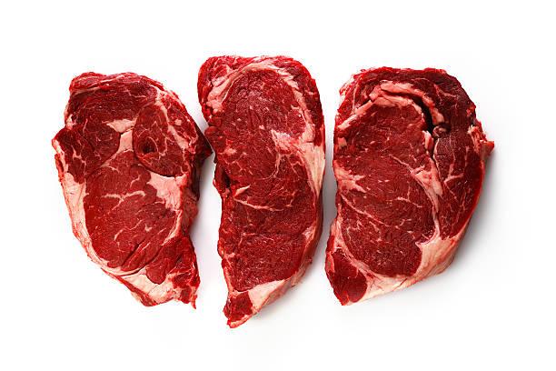three amigos - ribeye biefstuk stockfoto's en -beelden
