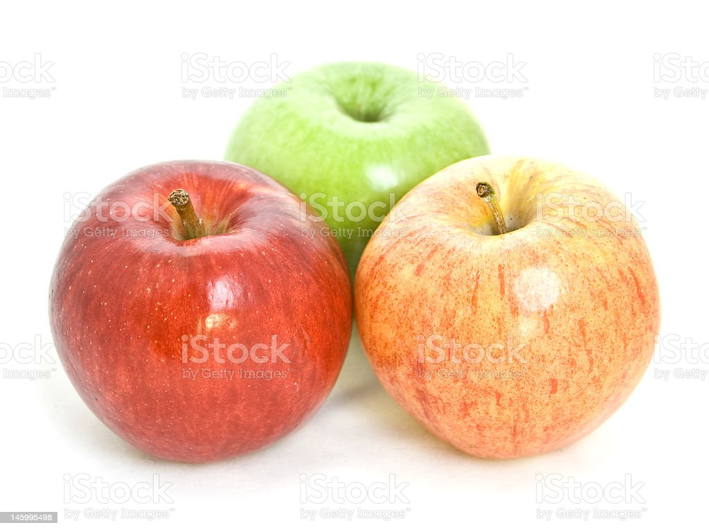 three apple stock photo