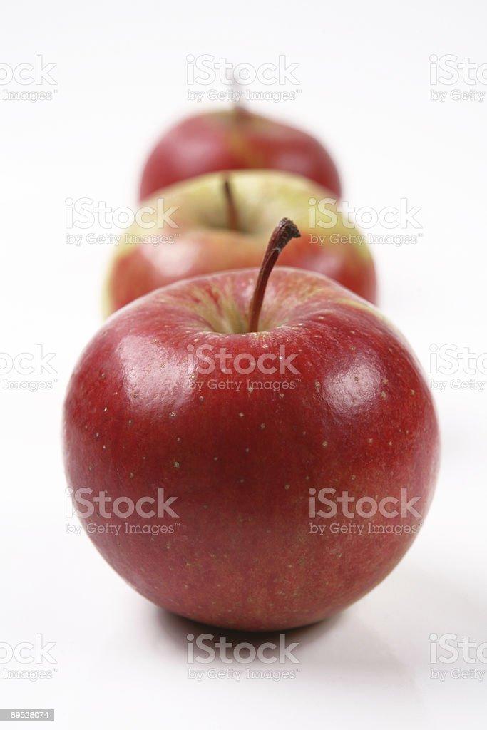 three apples 1 royalty-free stock photo