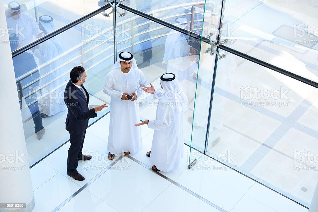 Drei arab business-Männer meeting – Foto