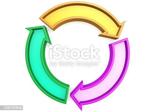 istock Three arrows circle 1056792846