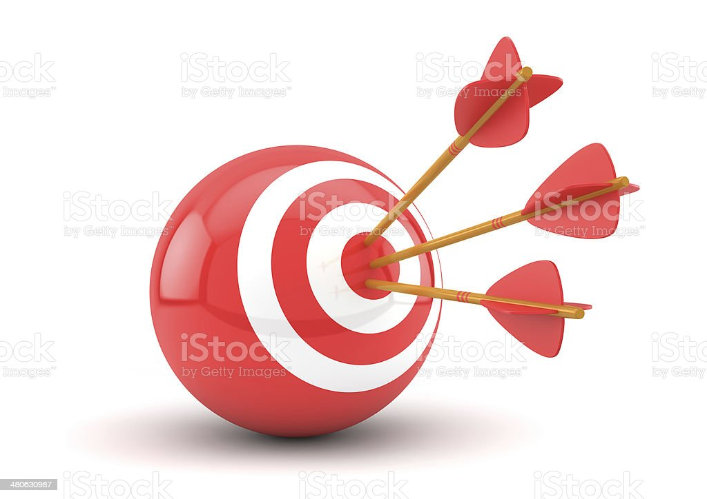 three arrows in target royalty-free stock photo