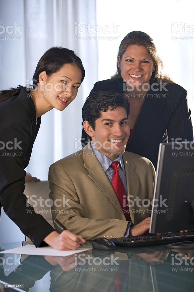 Three Attractive Business People royalty-free stock photo