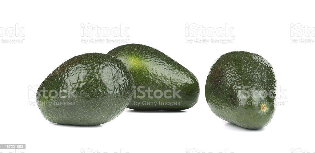 Three avocados. royalty-free stock photo