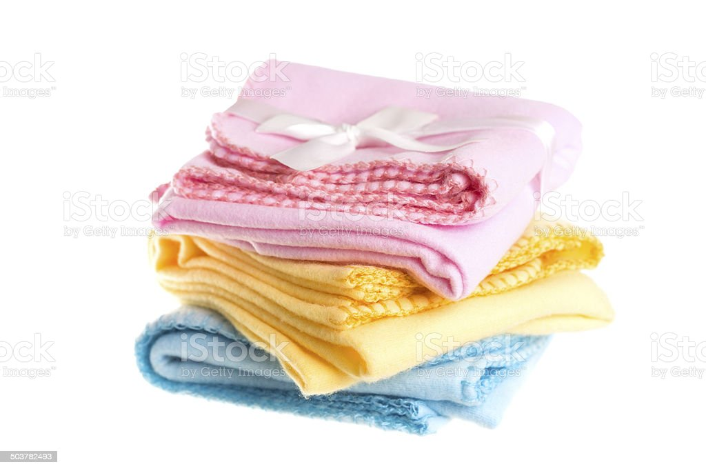 Three Baby Blankets stock photo