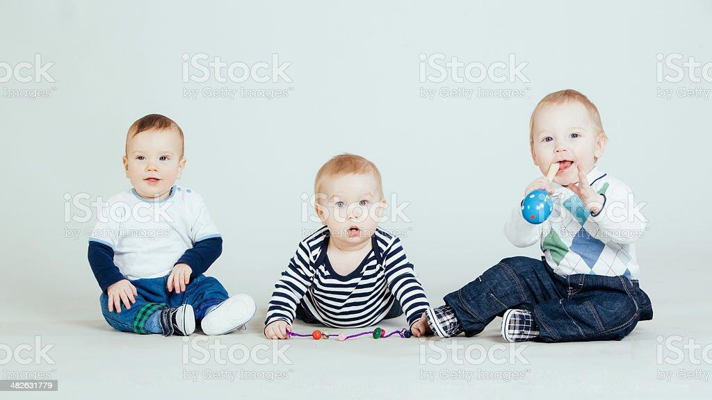 Three baby boy royalty-free stock photo