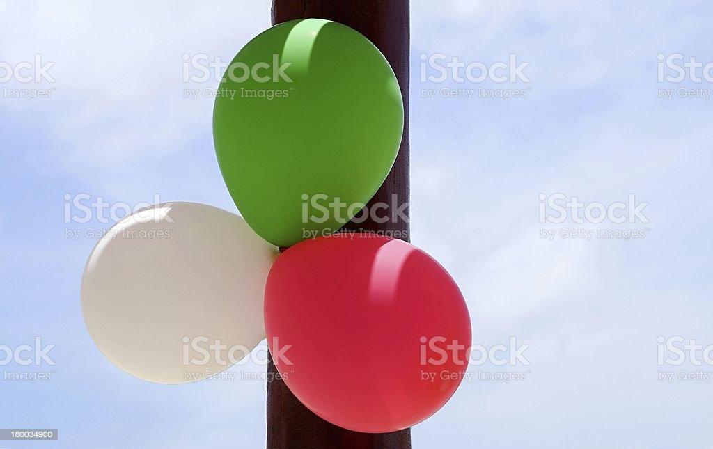 Three balloons royalty-free stock photo