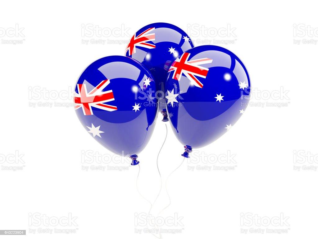 Drei Ballone mit Flagge von Australien – Foto