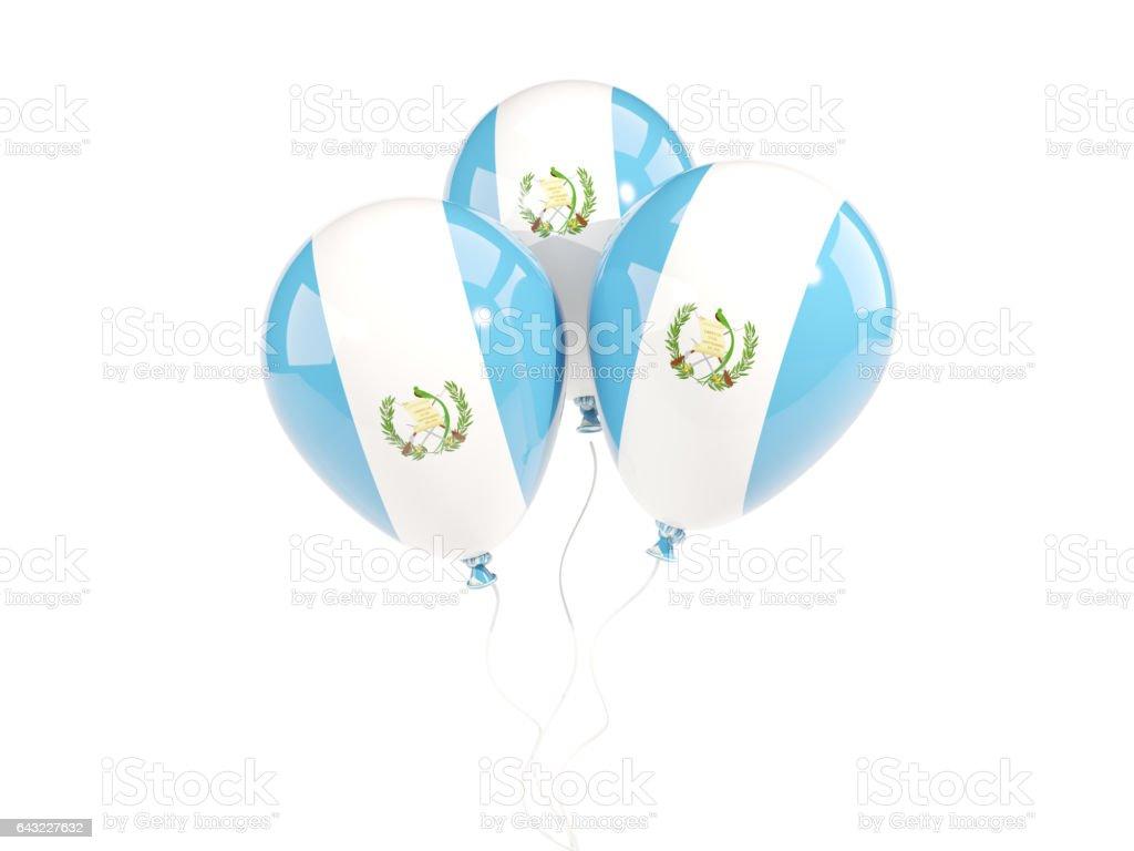 Tres globos con la bandera de guatemala - foto de stock