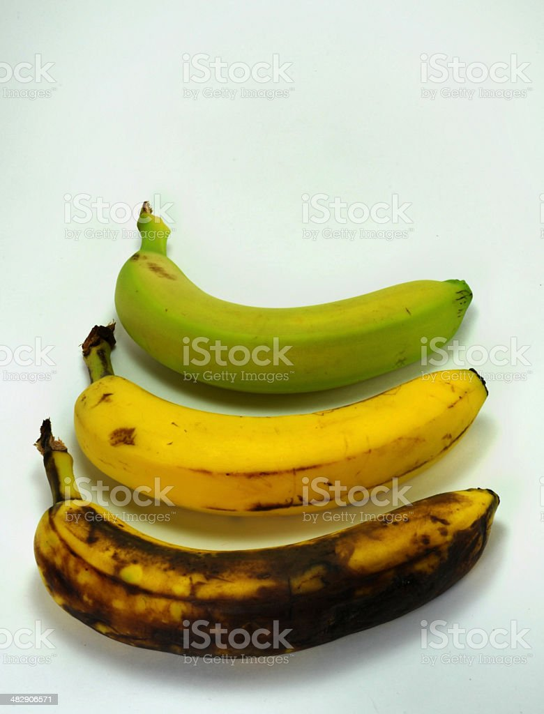 Three Bananas royalty-free stock photo