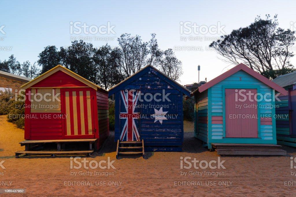 Cabane de plage trois - Photo