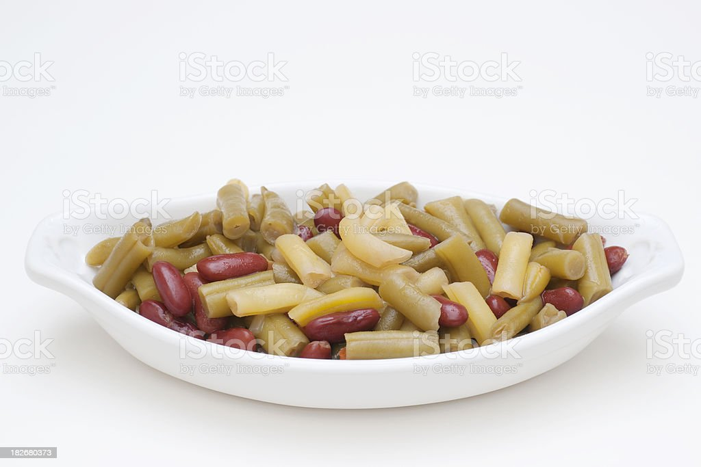 three bean salad stock photo