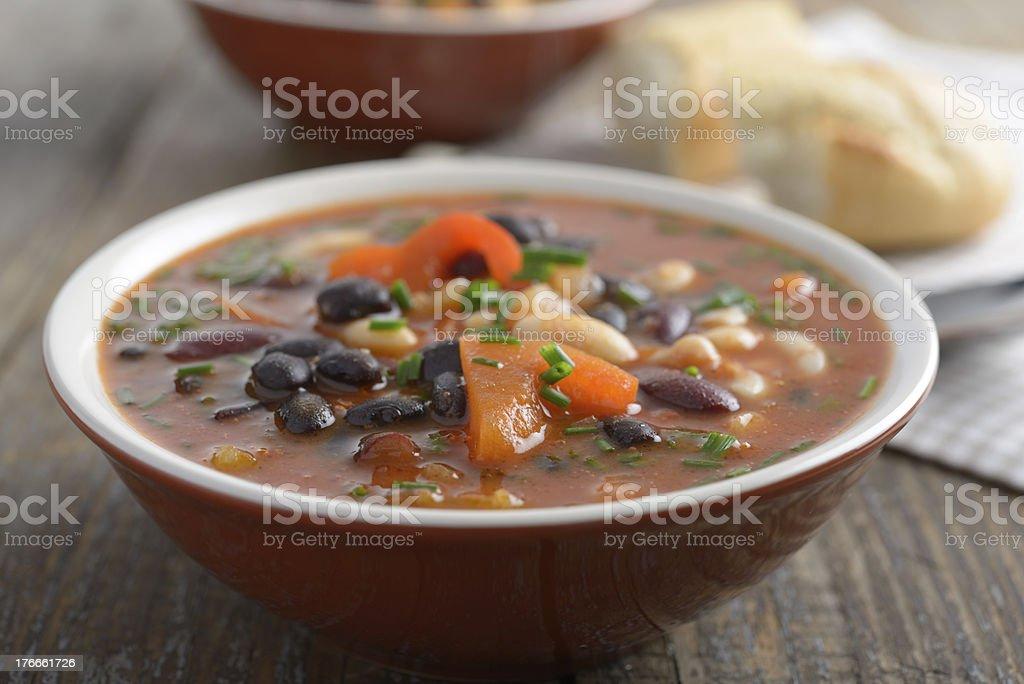 Three bean soup royalty-free stock photo