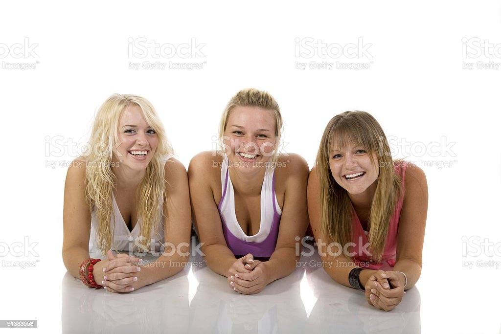 Three Beauties stock photo