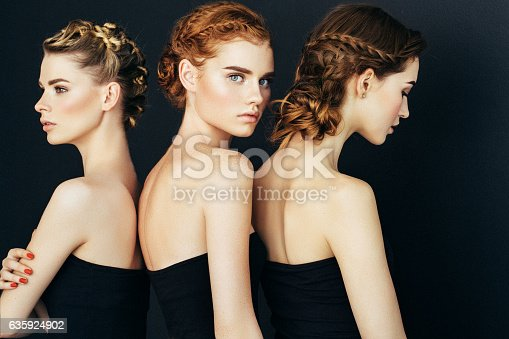 564586660istockphoto Three beautiful girls with a natural make-up 635924902