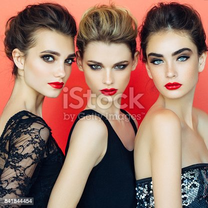 564586660istockphoto Three beautiful girls with make-up 841844454