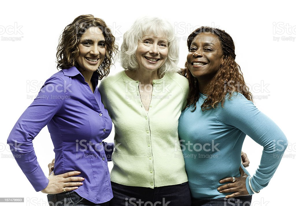 Three Beautiful Natural Women stock photo