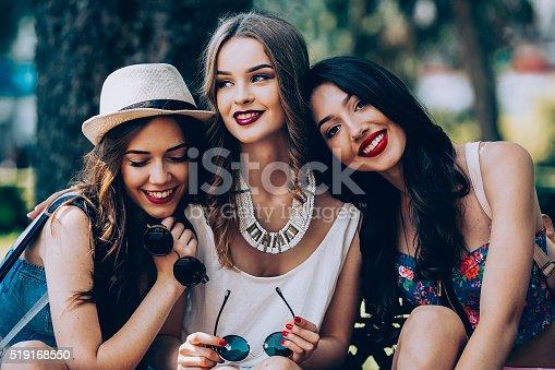 istock Three beautiful young girls 519168550