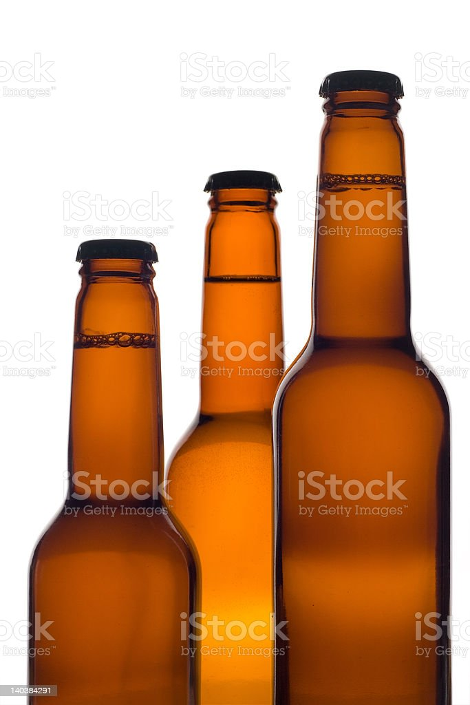 Three beer bottles royalty-free stock photo