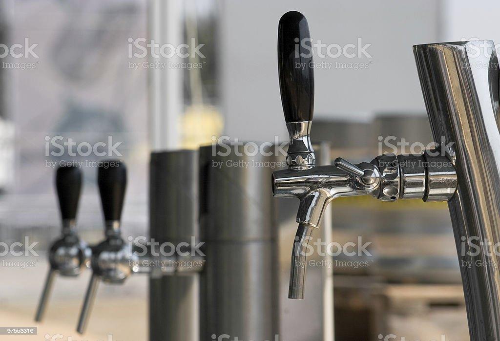 Trois bières robinets photo libre de droits